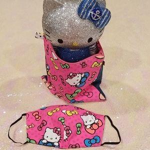 Set of Hello Kitty Mask & Cosmetic  Bag